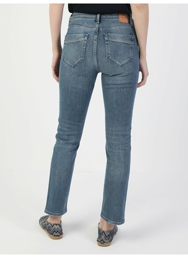Colin's Slim Fit Düz Paça Yüksek Bel 703 Carlakadın Pantolon Lacivert